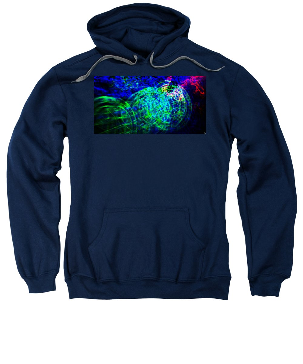 Abstract Art Sweatshirt featuring the painting Wheels by David Lee Thompson