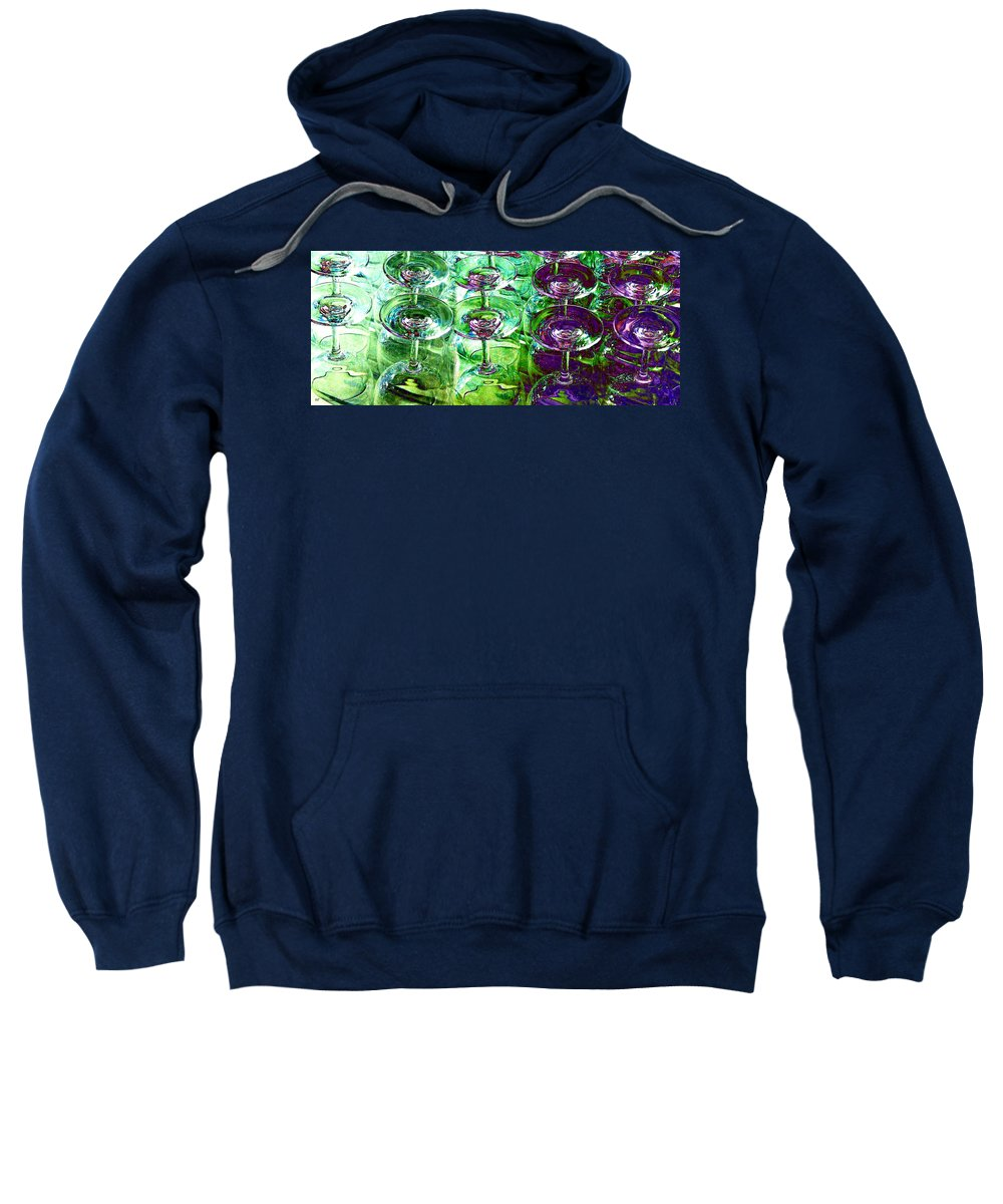Wine Glasses Sweatshirt featuring the photograph Wine And Dine by Will Borden