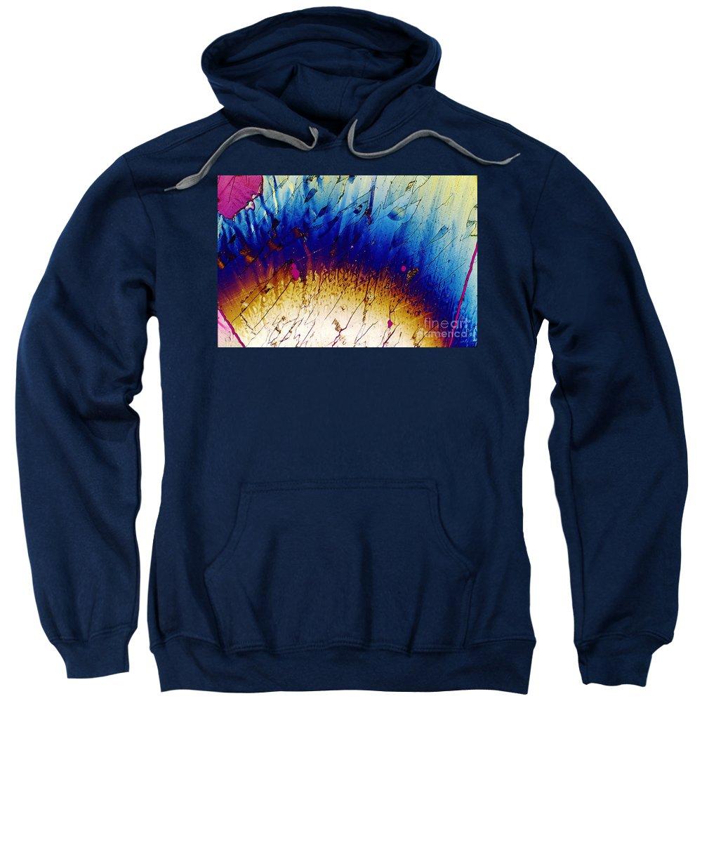 Polarized Light Micrograph Sweatshirt featuring the photograph Zovirax by Michael W. Davidson