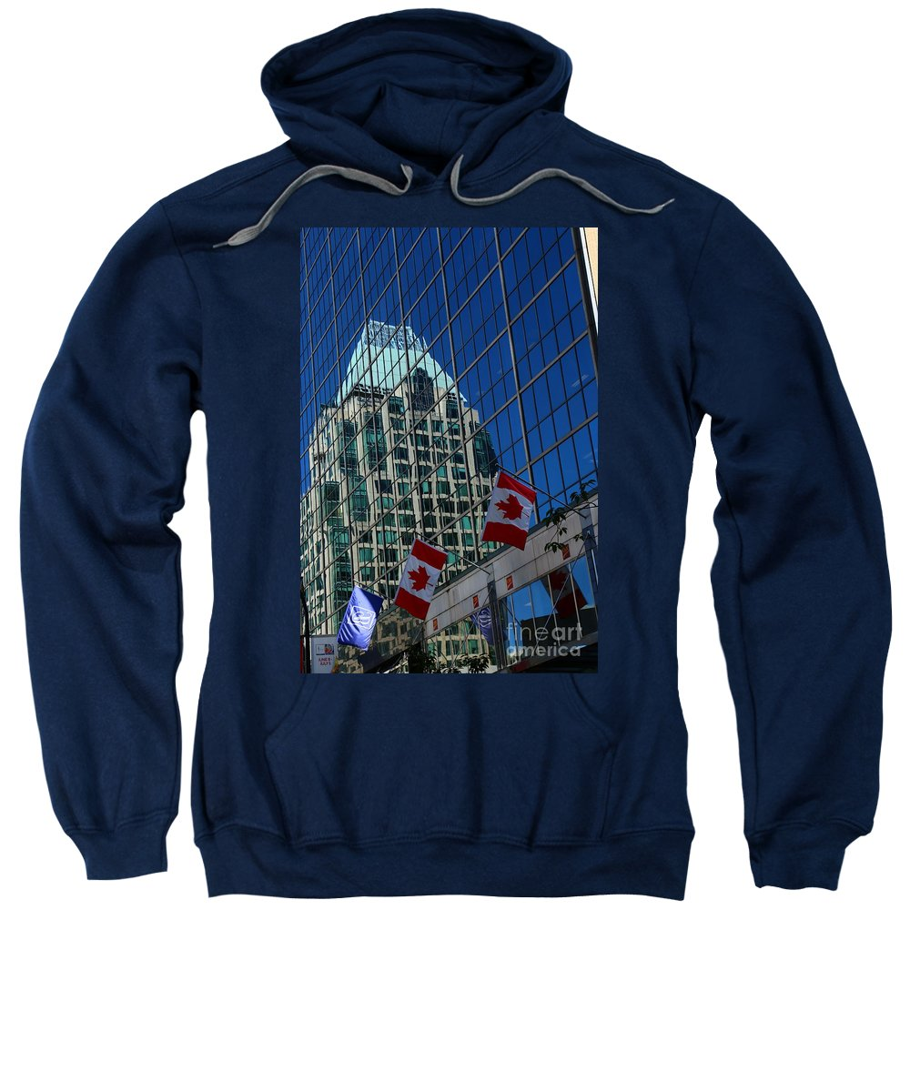 Canada Sweatshirt featuring the photograph Modern Architecture - City Reflection Vancouver by Christiane Schulze Art And Photography