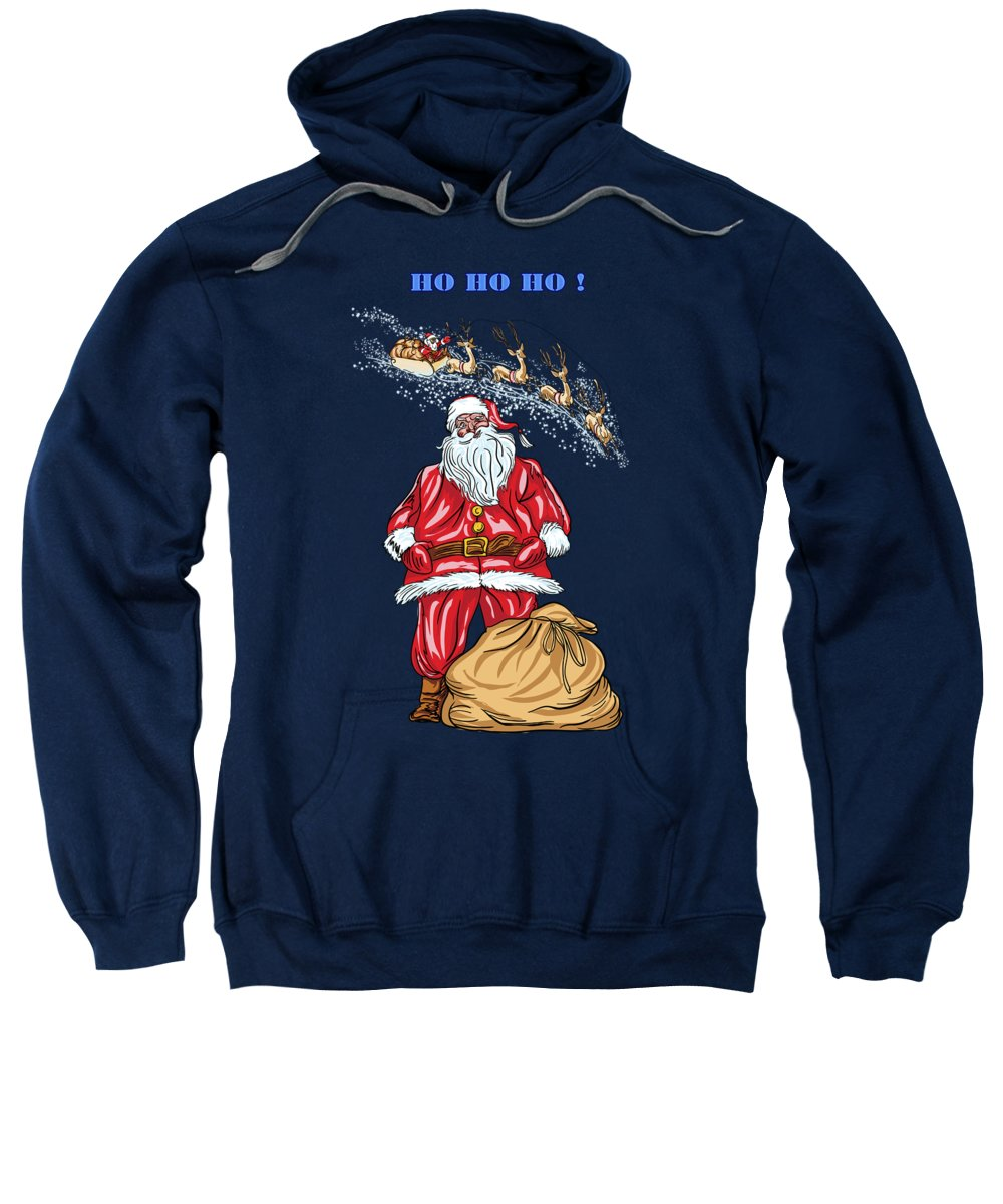 Merry Christmas Sweatshirt featuring the painting Santa Claus by Andrzej Szczerski