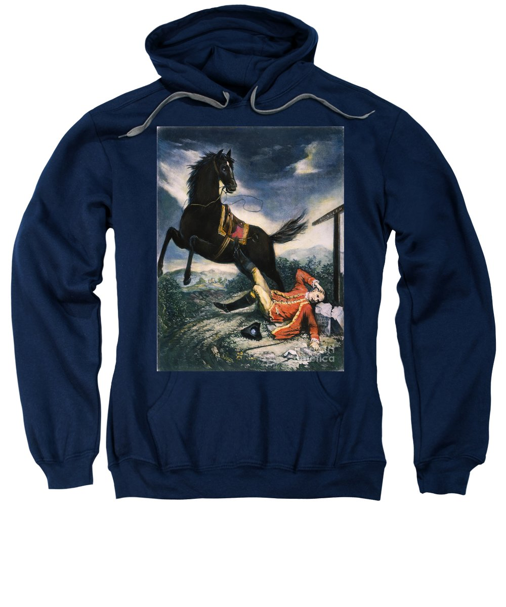 1774 Sweatshirt featuring the painting Cartoon: Thomas Gage, 1774 by Granger