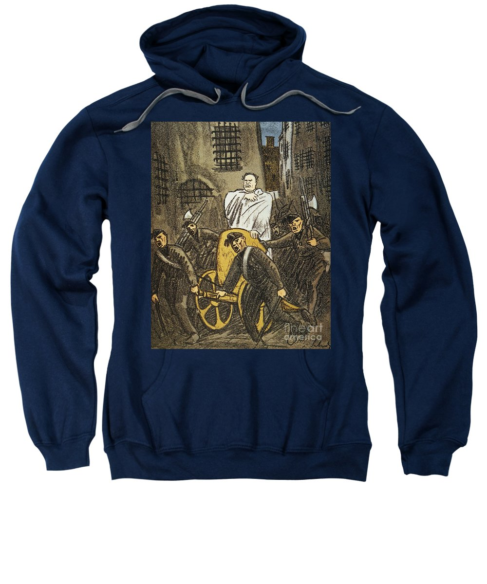 1925 Sweatshirt featuring the painting Benito Mussolini Cartoon by Granger