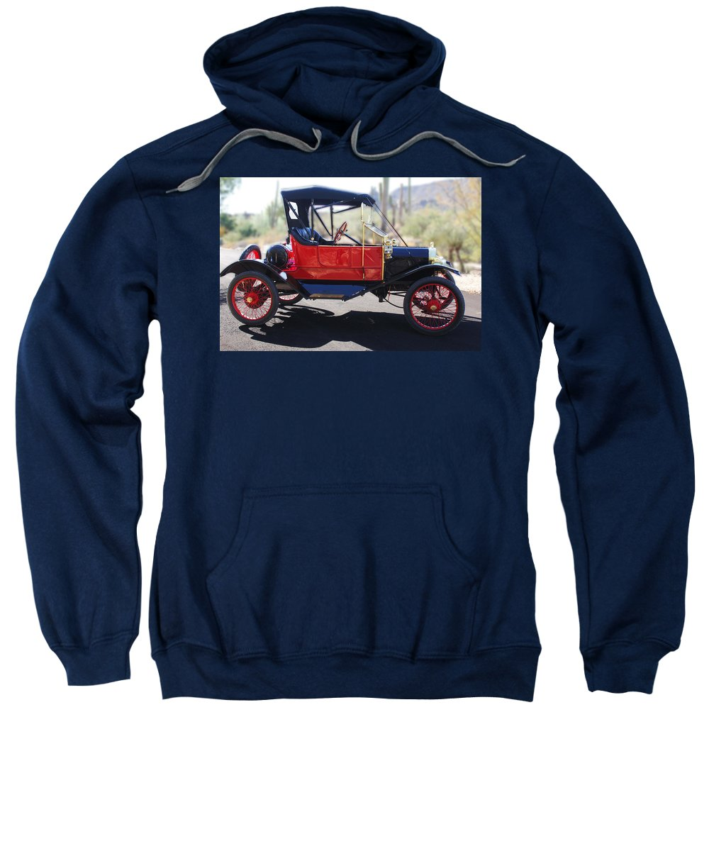 Horseless Carriage Sweatshirt featuring the photograph 1911 Ford Model T Torpedo by Jill Reger