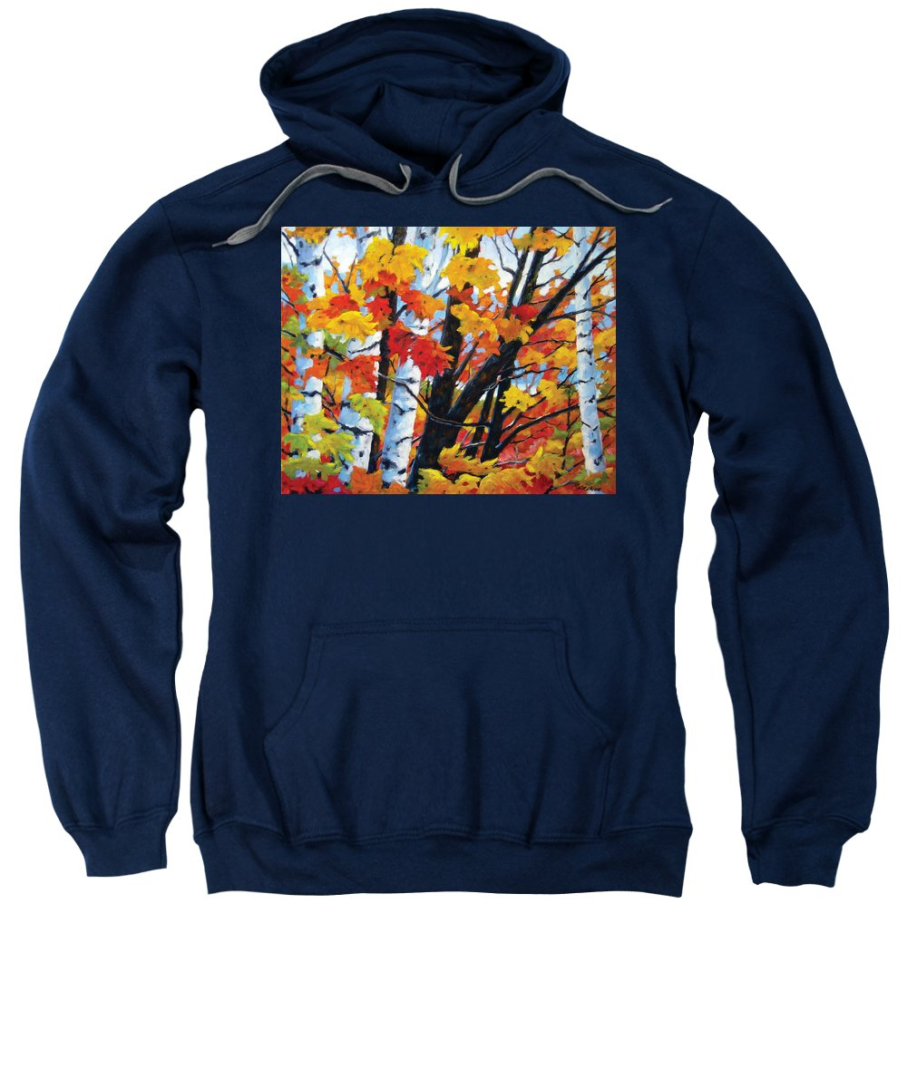 Art Sweatshirt featuring the painting A Touch Of Canada by Richard T Pranke
