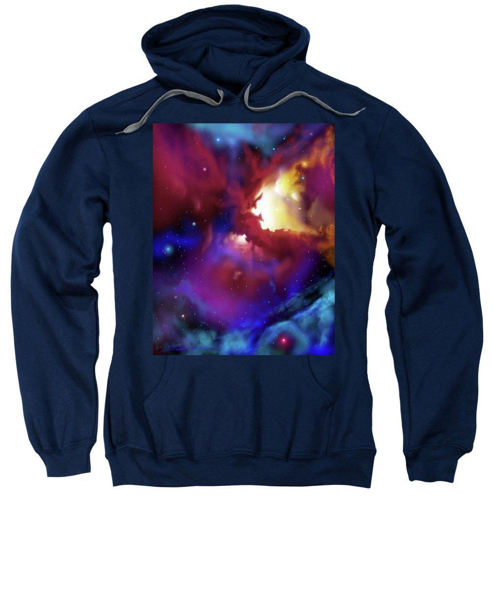 James Christopher Hill Sweatshirt featuring the painting Bat Nebula by James Christopher Hill