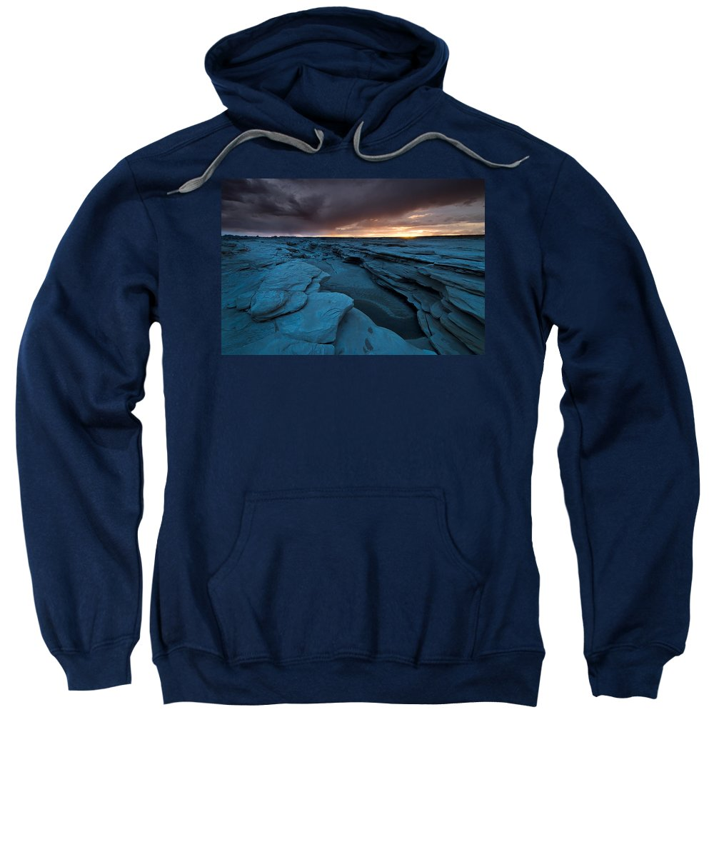 Badland Sweatshirt featuring the photograph Bisti Fissure New Mexico by Steve Gadomski
