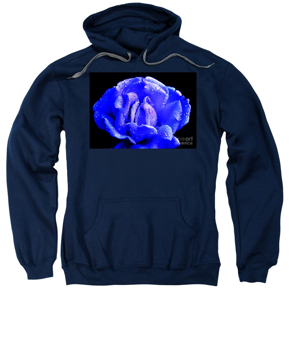 Clay Sweatshirt featuring the photograph Blue Rose by Clayton Bruster