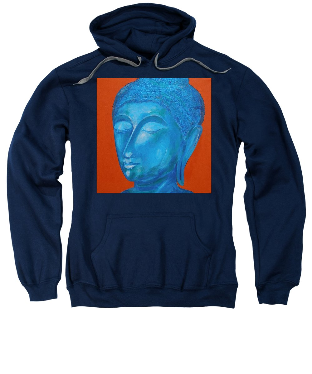 Original Painting Sweatshirt featuring the painting Buddah I by Sue Wright