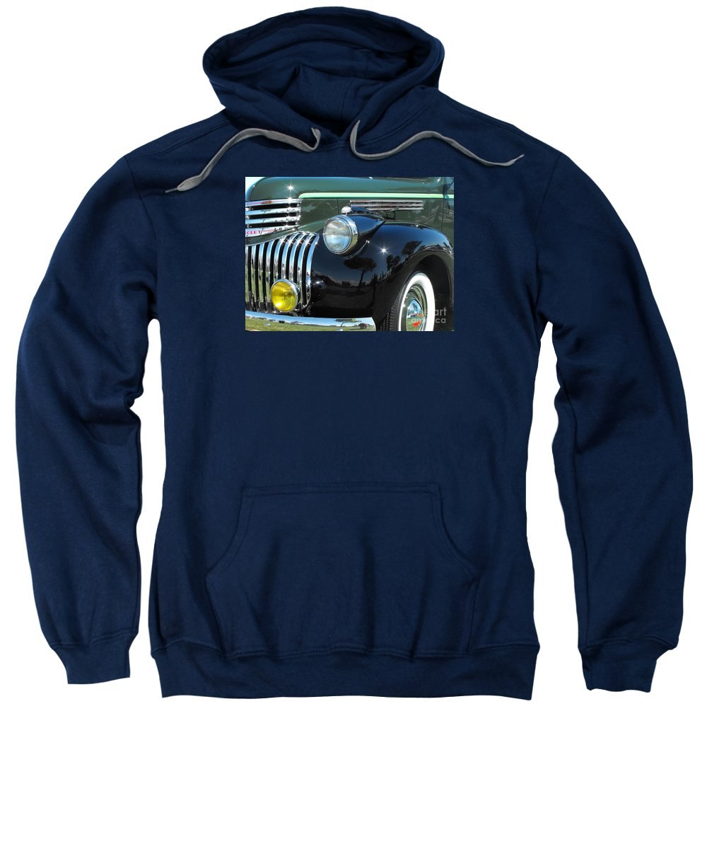 Chevrolet Sweatshirt featuring the photograph Chevrolet Pickup Truck by Neil Zimmerman