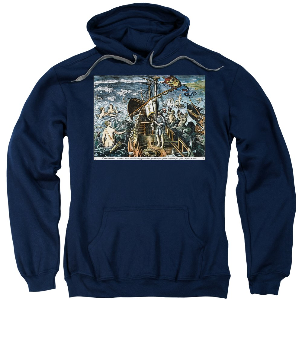 15th Century Sweatshirt featuring the photograph Christopher Columbus by Granger