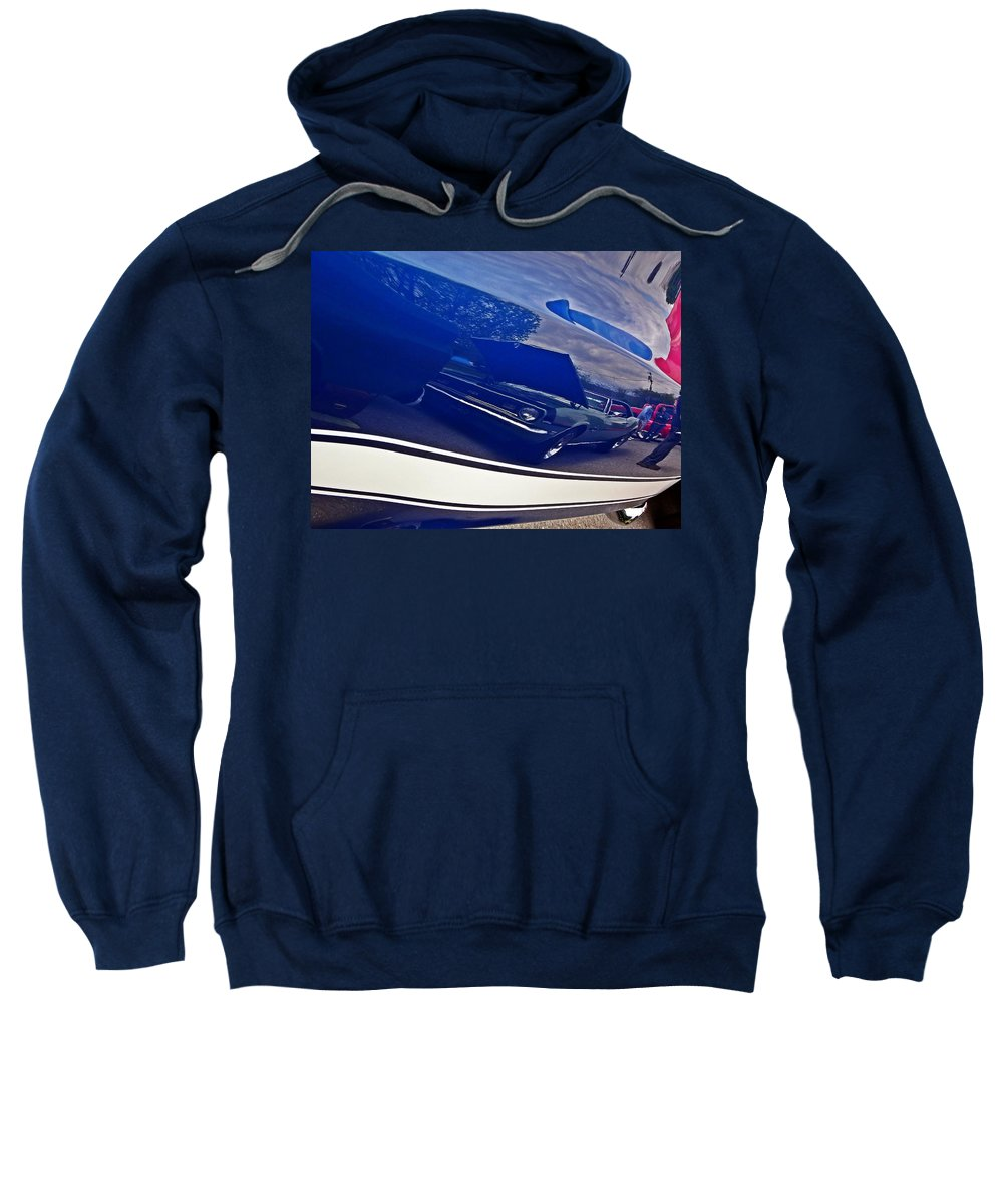 Cars Sweatshirt featuring the photograph Classic Car Reflection by Karl Rose