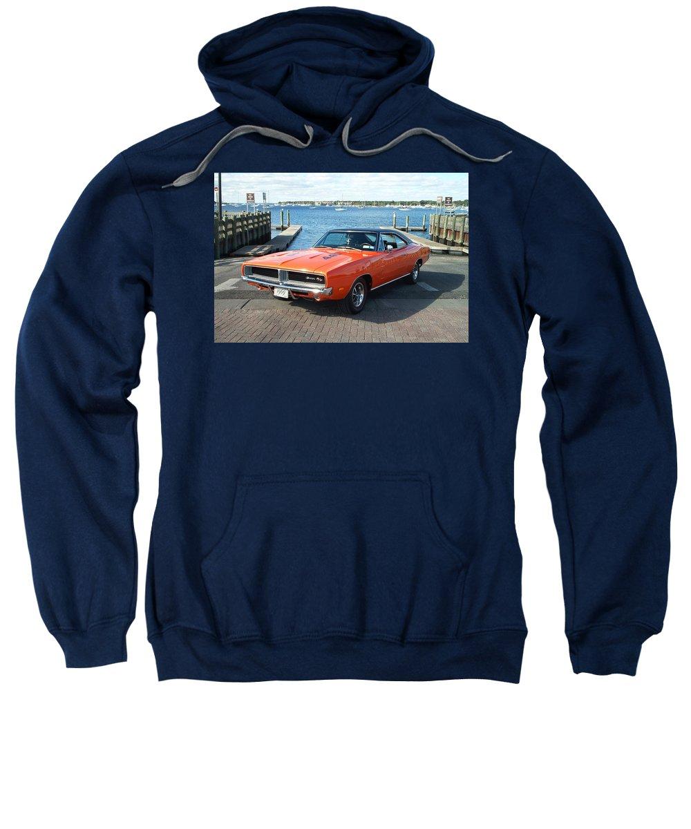 Dodge Sweatshirt featuring the digital art Dodge by Bert Mailer