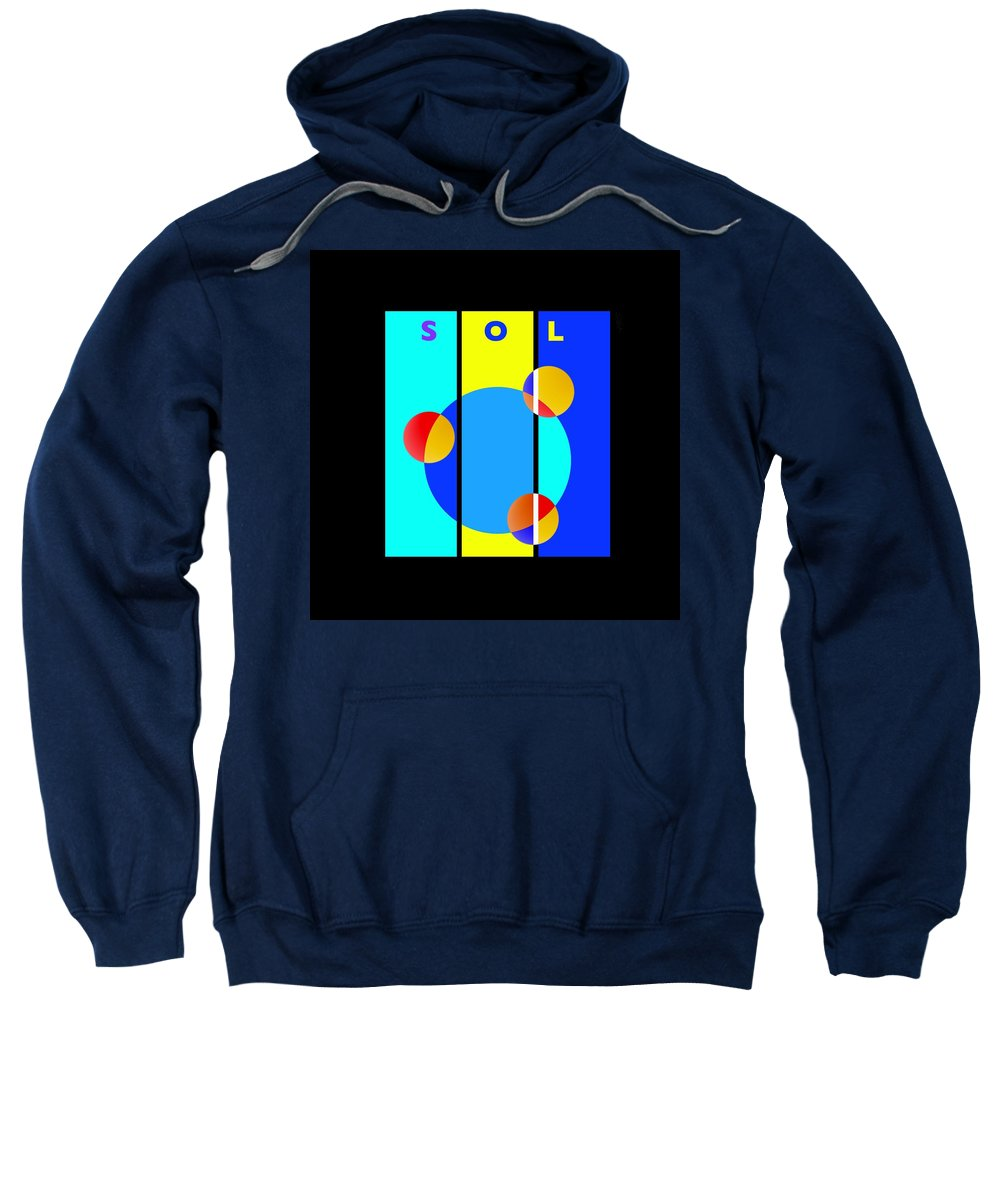 Primary Colors Sweatshirt featuring the painting Eclipse by Charles Stuart