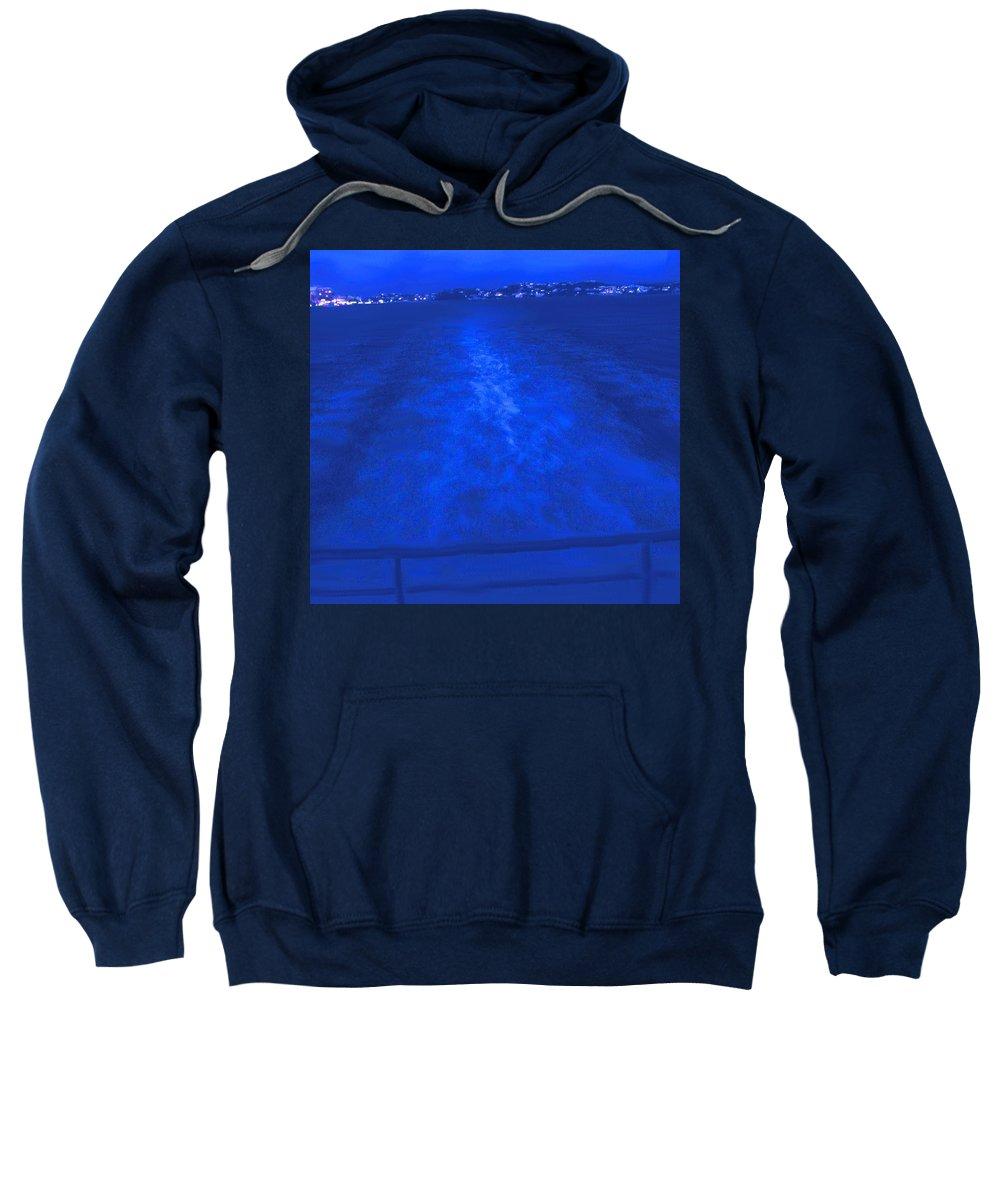 Bermuda Sweatshirt featuring the photograph Evening Fast Ferry by Ian MacDonald
