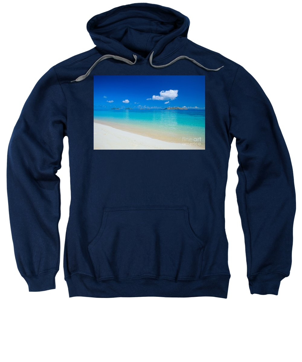 Beautiful Sweatshirt featuring the photograph Fiji, Mana Island by Dave Fleetham - Printscapes