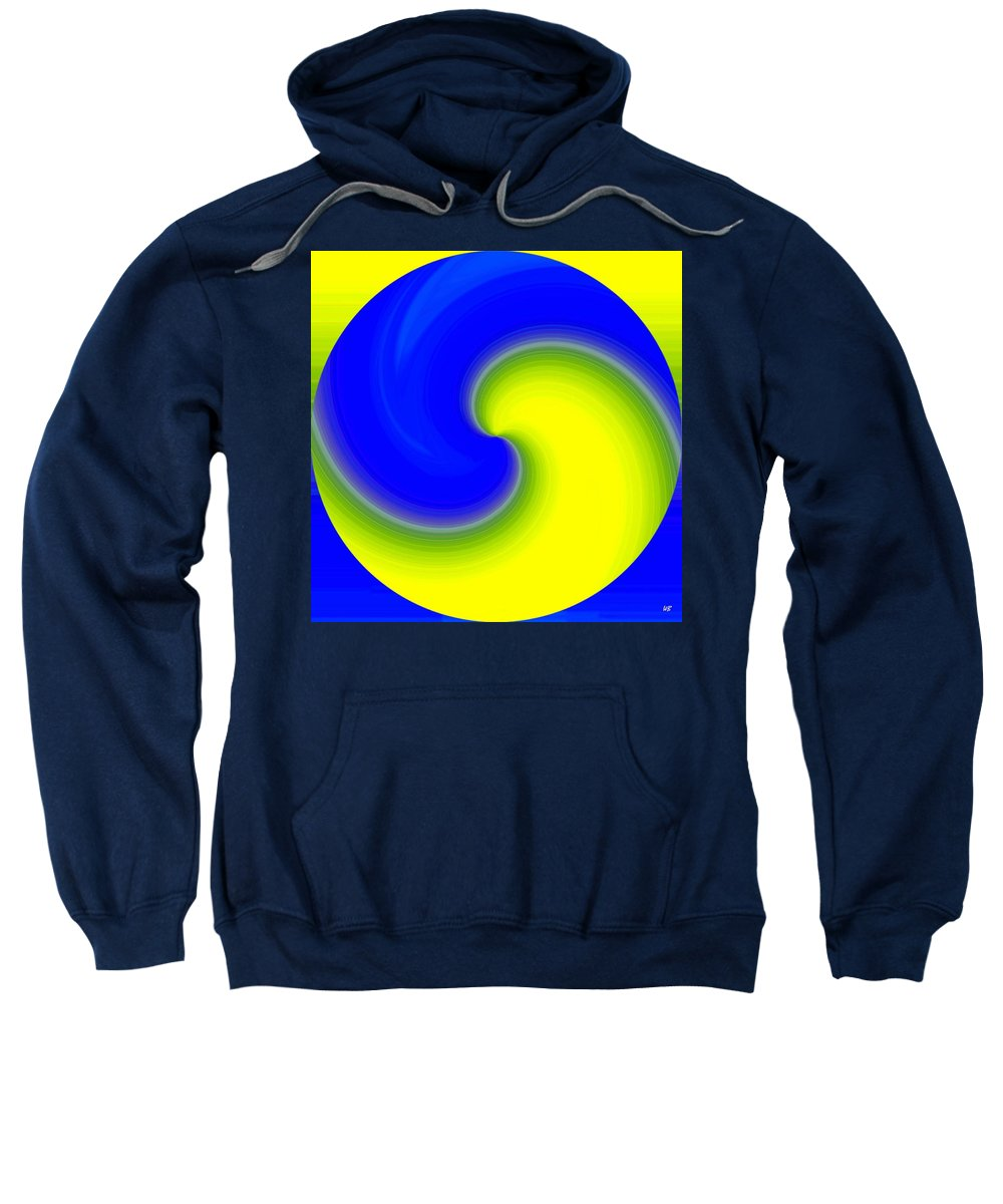 Abstract Sweatshirt featuring the digital art Harmony 22 by Will Borden