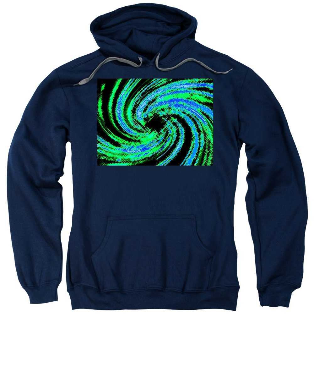 Abstract Sweatshirt featuring the digital art Harmony 24 by Will Borden