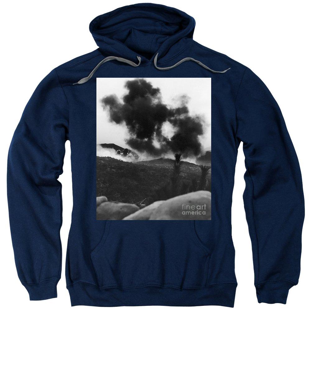 1952 Sweatshirt featuring the photograph Korean War: Bunker Hill by Granger