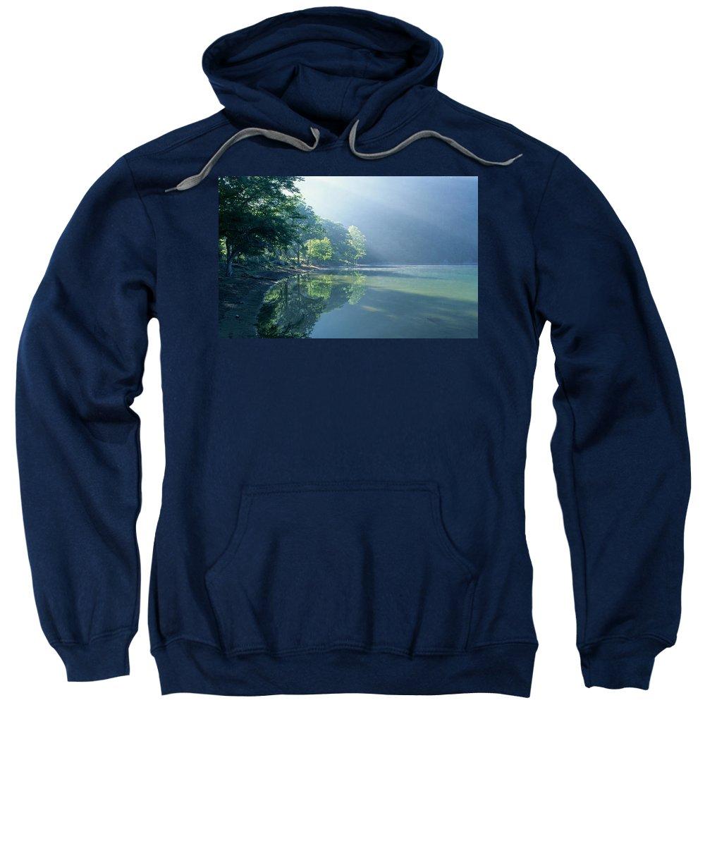 Lake Sweatshirt featuring the digital art Lake by Bert Mailer