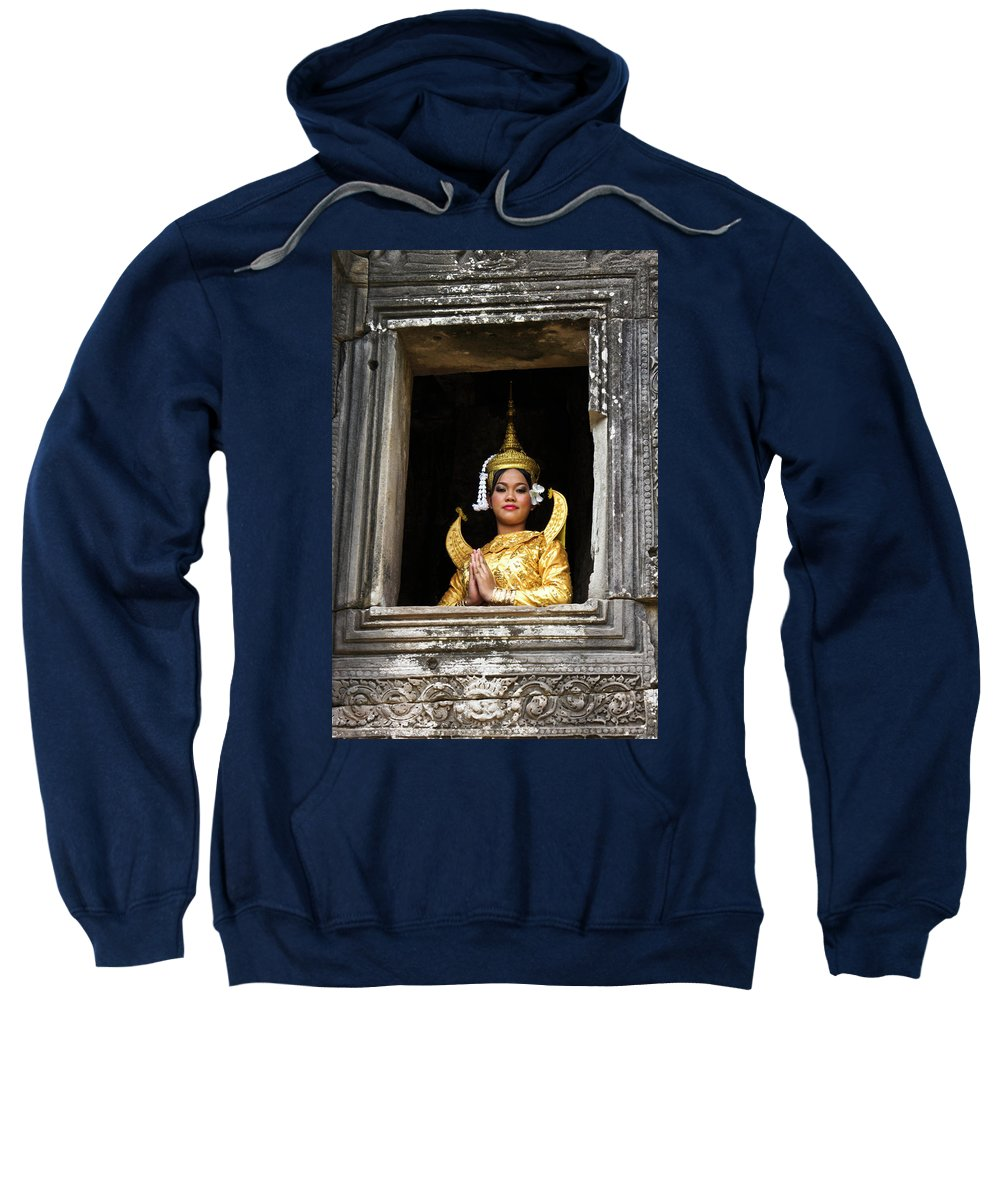 Asia Sweatshirt featuring the photograph Makala Dancer In Cambodia by Michele Burgess