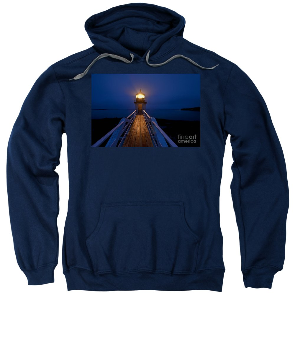 Maine Sweatshirt featuring the photograph Marshall Point Light Station by John Greim