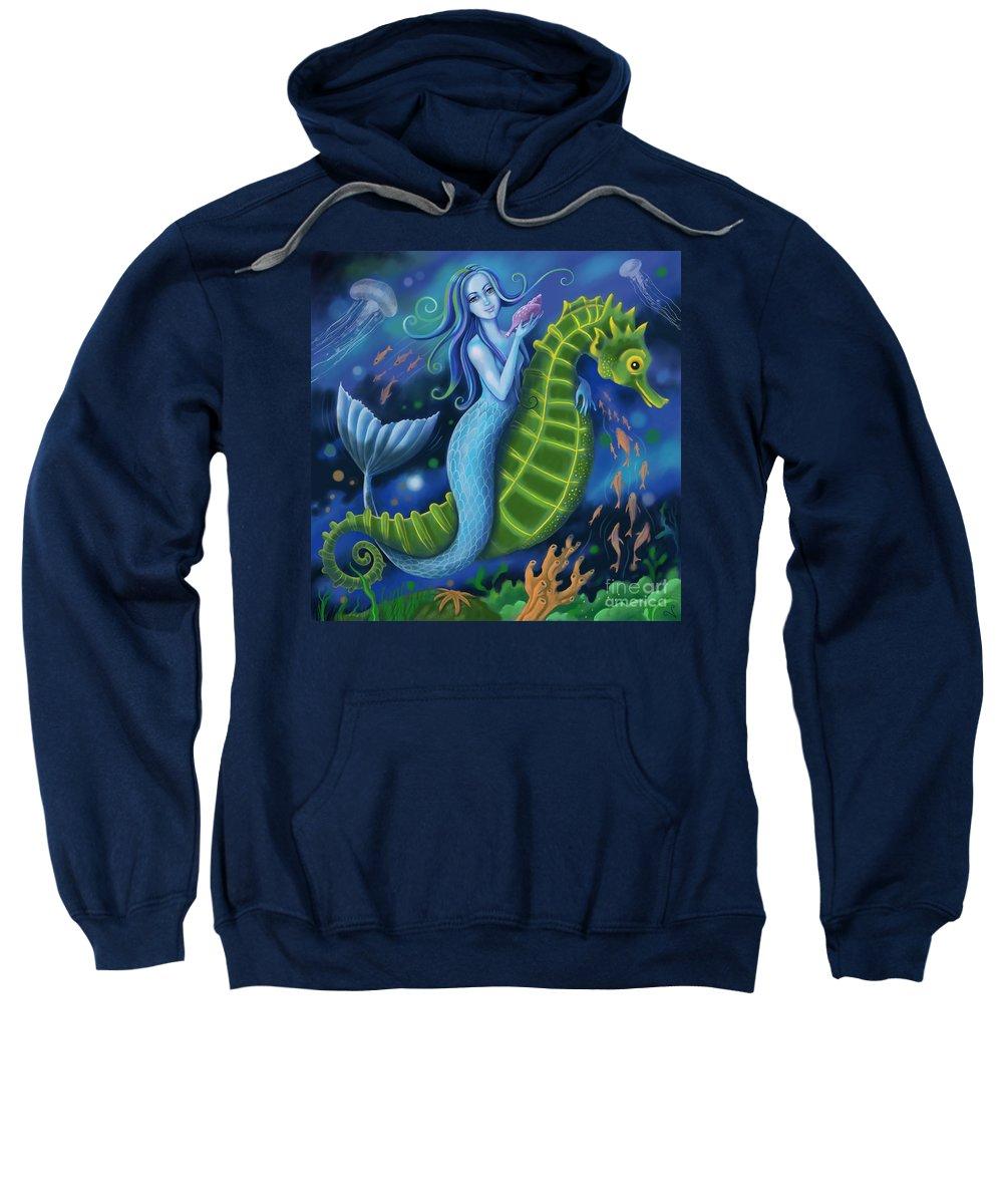 Mermaid Sweatshirt featuring the digital art Mermaid by Valerie White