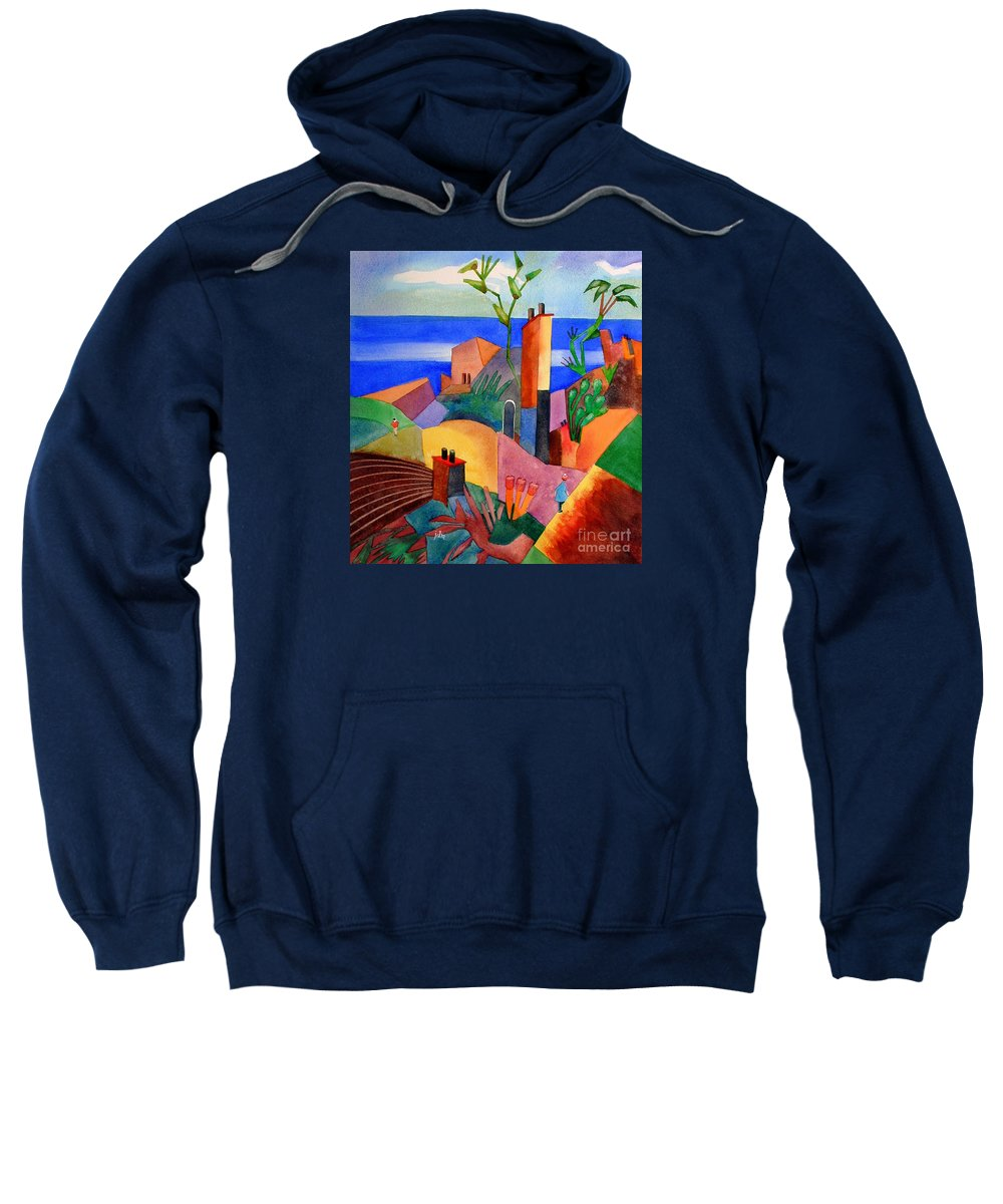 Bright Sweatshirt featuring the painting My Dream Vacation by John Mabry