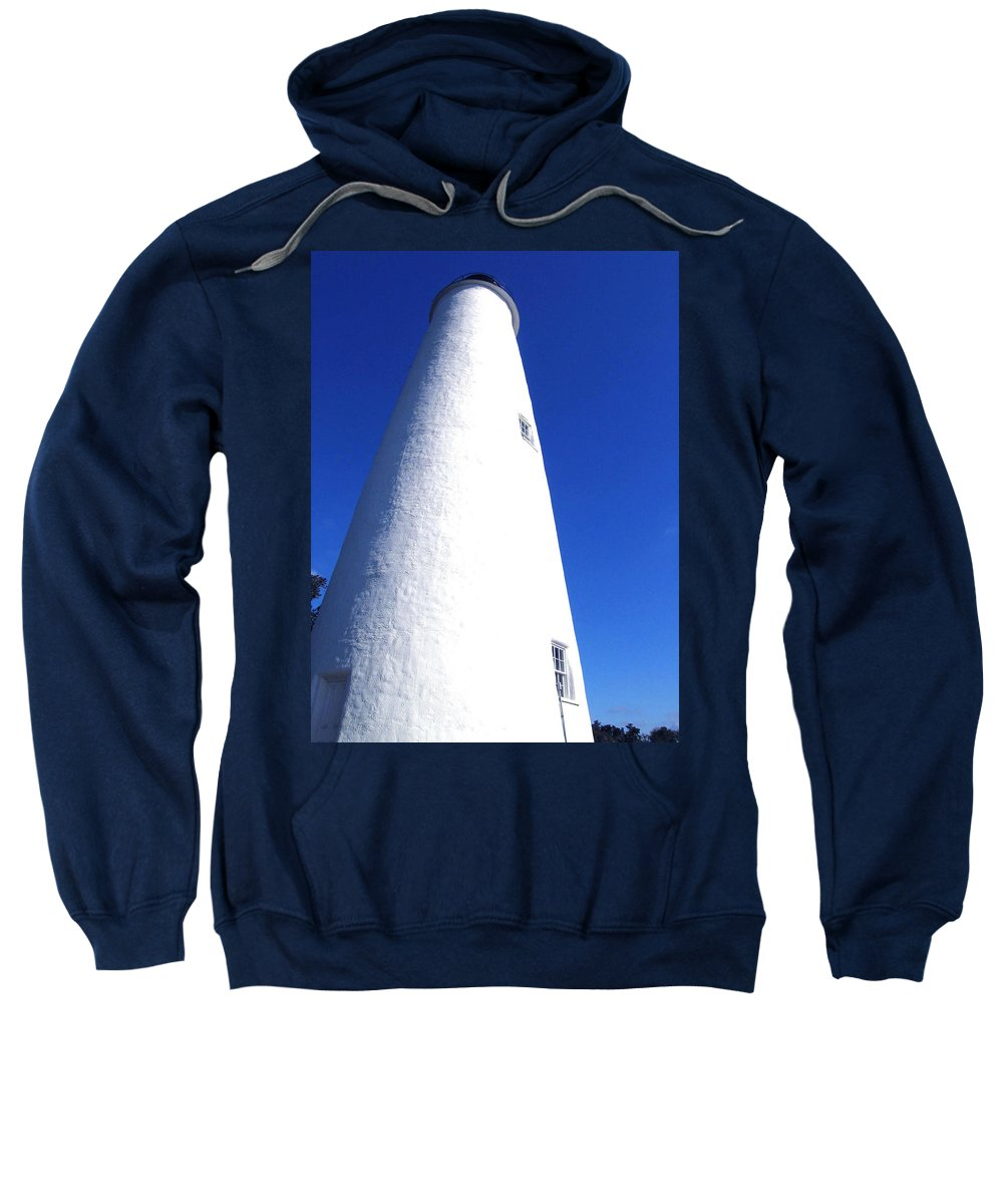 Ocracoke Sweatshirt featuring the photograph Ocracoke Island Light House by Wayne Potrafka
