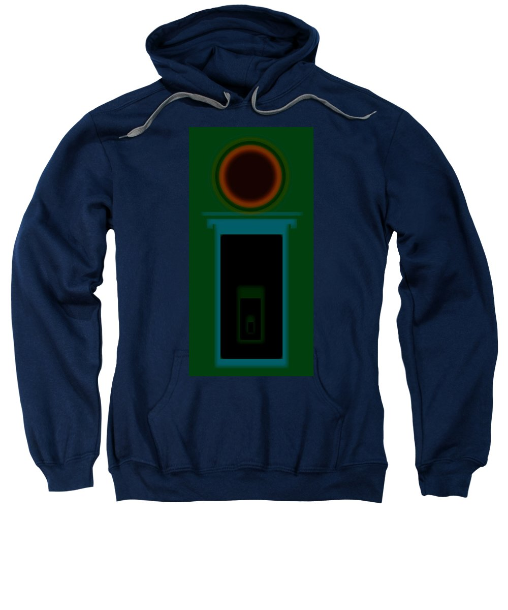 Palladian Sweatshirt featuring the painting Palladian Green by Charles Stuart