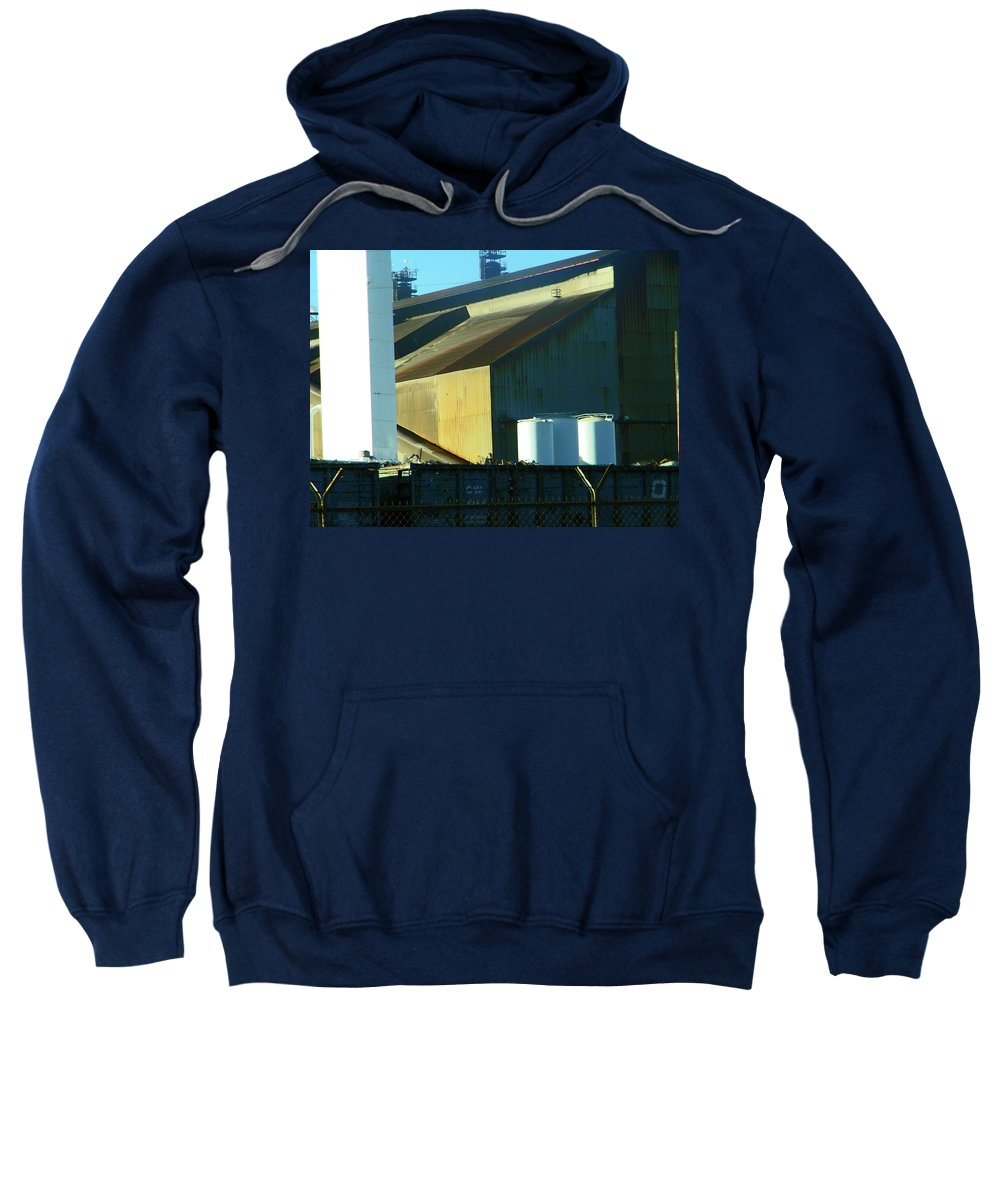 Abstract Sweatshirt featuring the photograph Pueblo--the Steel City by Lenore Senior