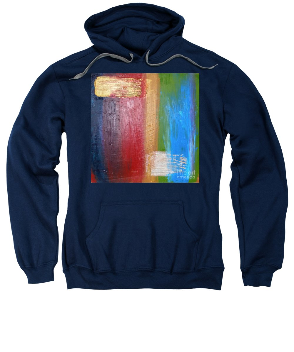 Rainbow Sweatshirt featuring the painting Radiance by Maria Bonnier-Perez
