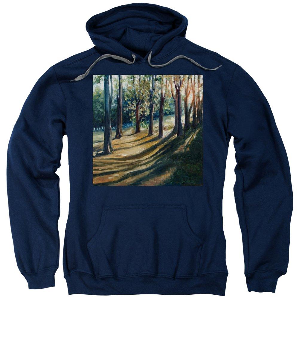Trees Sweatshirt featuring the painting Shadows by Rick Nederlof