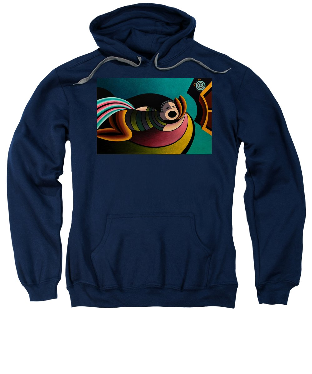 Bruce Bodden Sweatshirt featuring the painting Snoring by Bruce Bodden