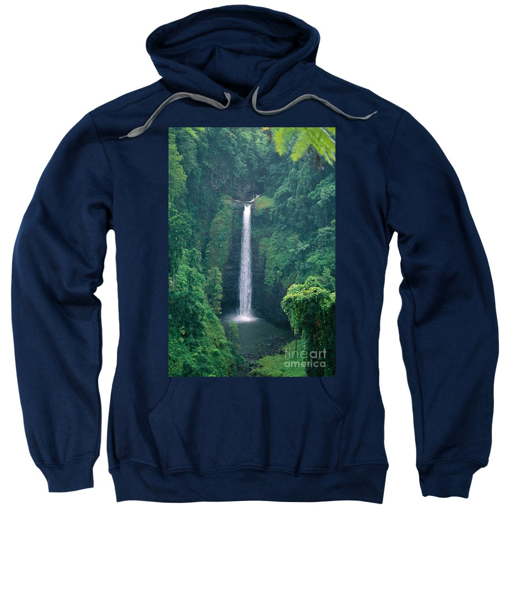C1767 Sweatshirt featuring the photograph Sopoaga Falls by Kyle Rothenborg - Printscapes