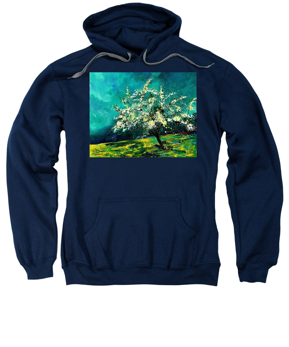 Landscape Sweatshirt featuring the painting Spring 67 by Pol Ledent