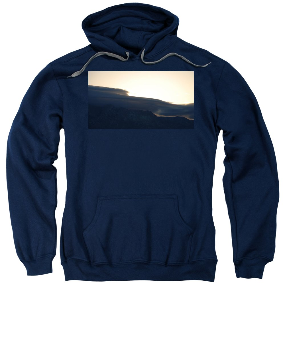 Sunrise Sweatshirt featuring the photograph Sunrise Over The Sandias by Rob Hans