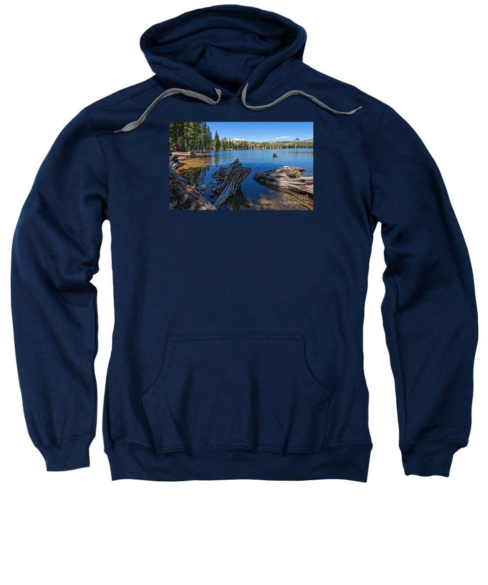 Tamarack Sweatshirt featuring the photograph Tamarack Lake by Dianne Phelps