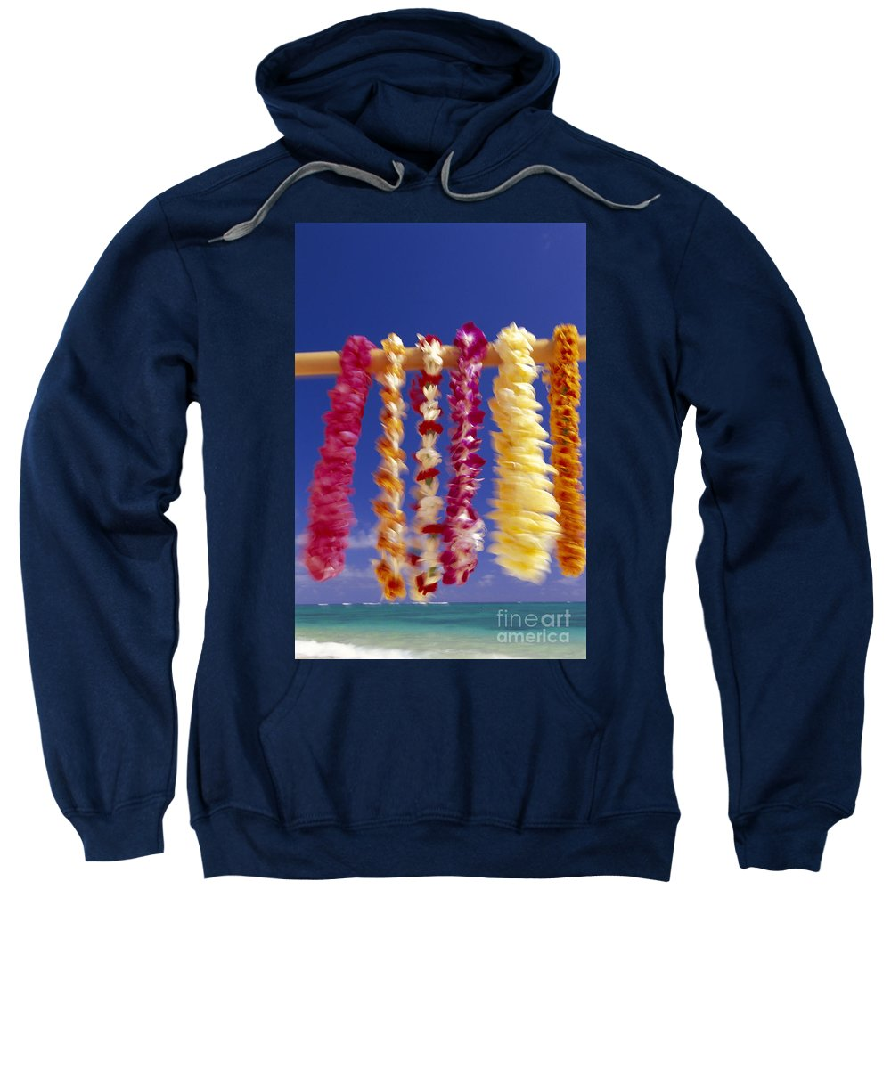 Afternoon Sweatshirt featuring the photograph Tropical Leis by Dana Edmunds - Printscapes