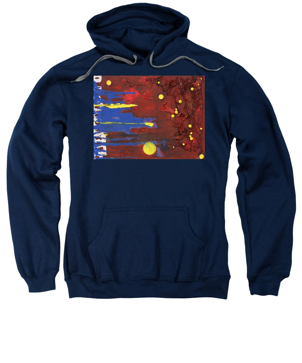 Red Sweatshirt featuring the mixed media Untitled by Jaime Becker