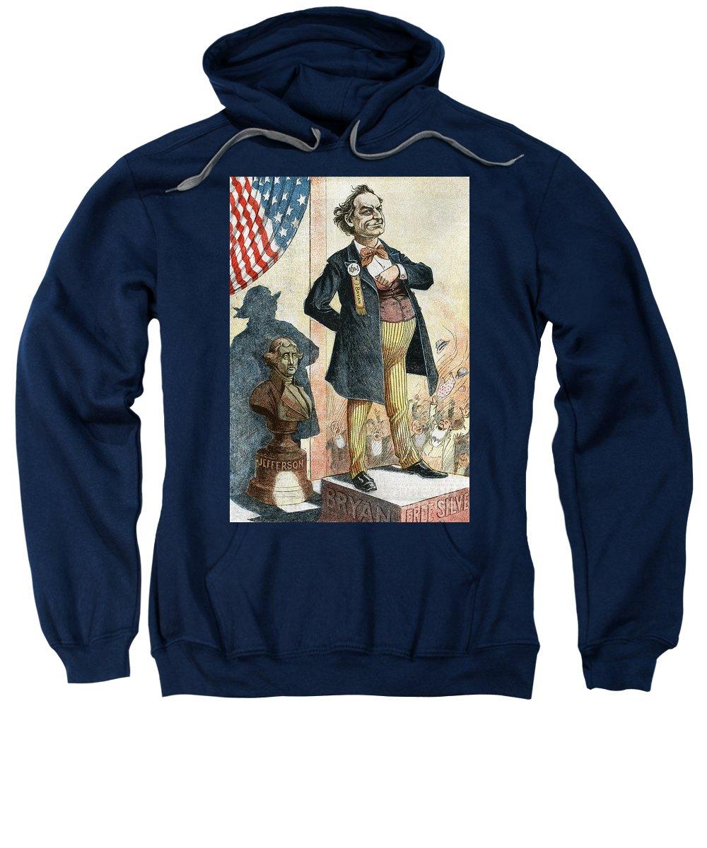 1899 Sweatshirt featuring the photograph William Jennings Bryan by Granger