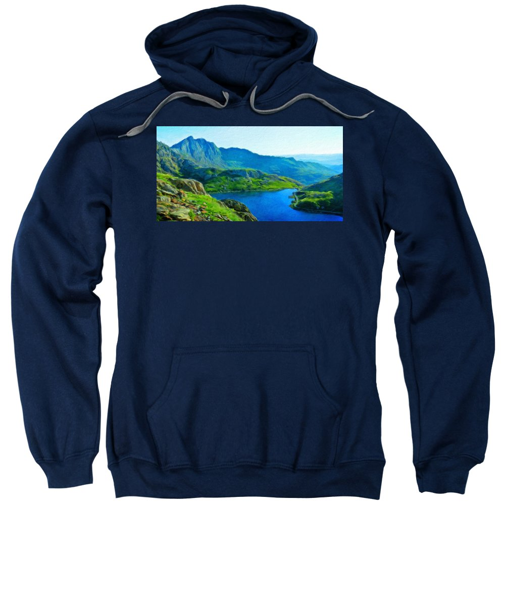 Landscape Sweatshirt featuring the painting Landscape Definition Nature by World Map