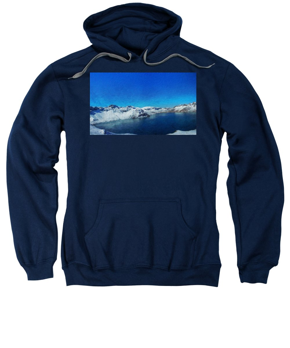 Landscape Sweatshirt featuring the painting Nature Landscape Art by World Map