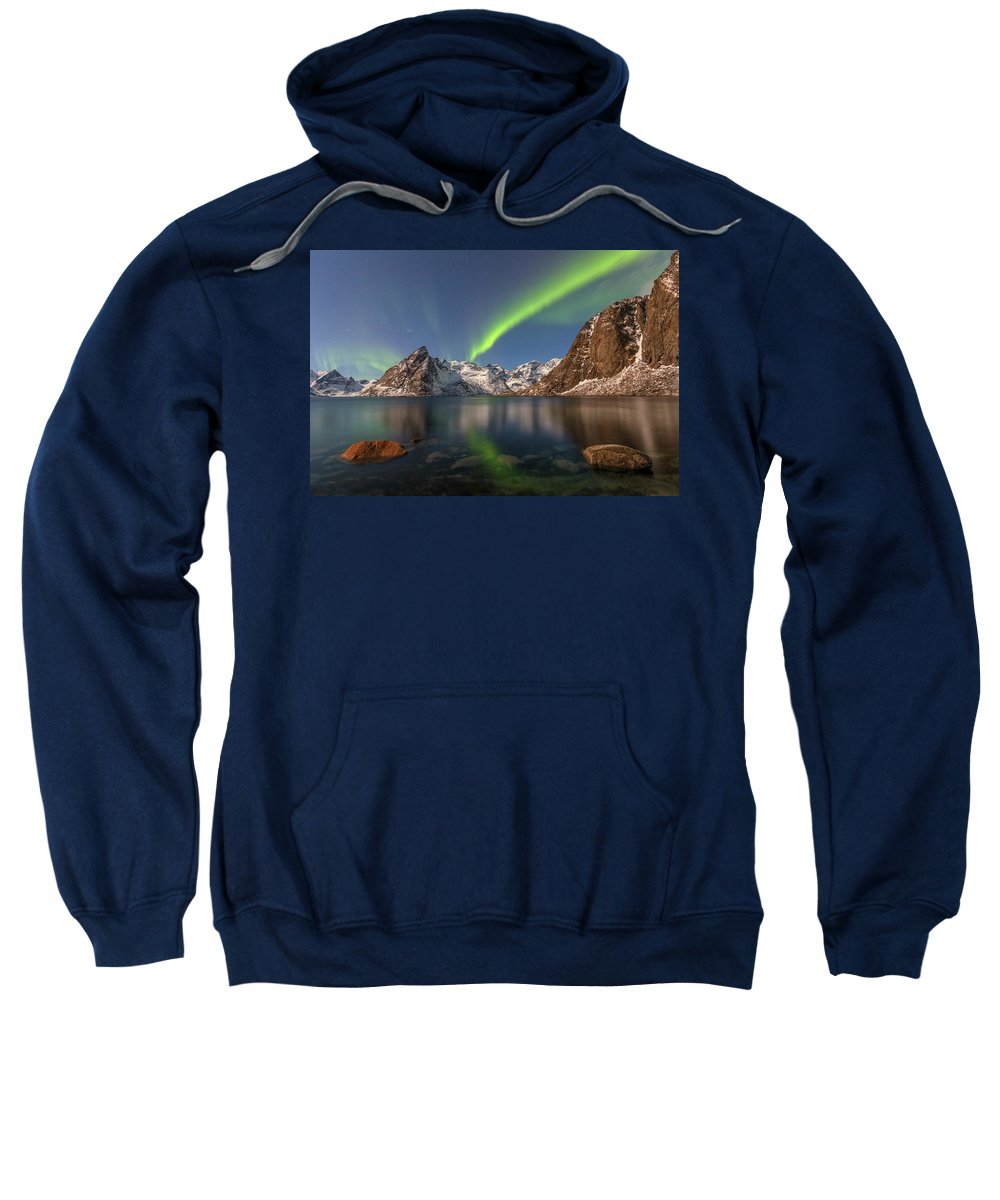Reine Sweatshirt featuring the photograph Hamnoy Lofoten - Norway by Joana Kruse