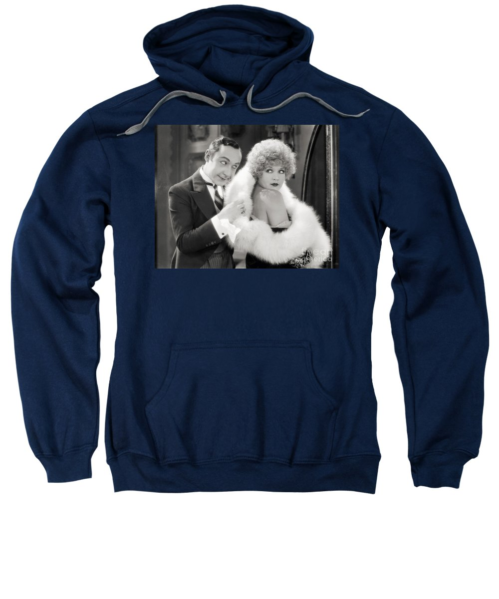 -couples- Sweatshirt featuring the photograph Silent Film Still: Couples by Granger