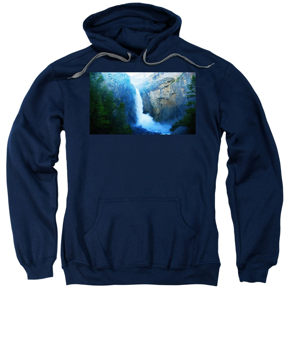 Landscape Sweatshirt featuring the painting Nature Painted Landscape by World Map