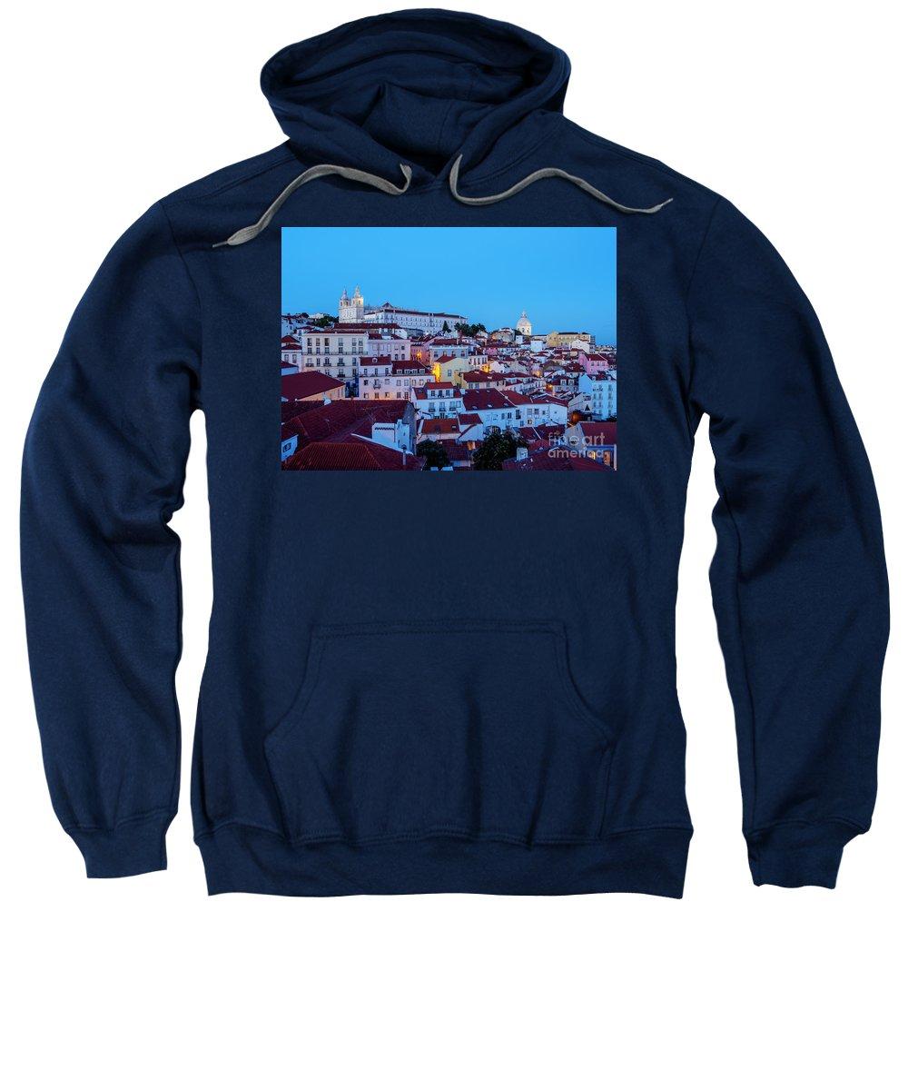 Alfama Sweatshirt featuring the photograph Lisbon, Portugal by Karol Kozlowski