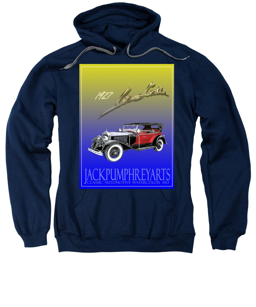 Posters Of Early Classic Luxury Cars From The Nineteen Twentys. Posters Of Classic Automotive Art. Car Posters By Jack Pumphrey Sweatshirt featuring the painting 1927 Lasalle by Jack Pumphrey