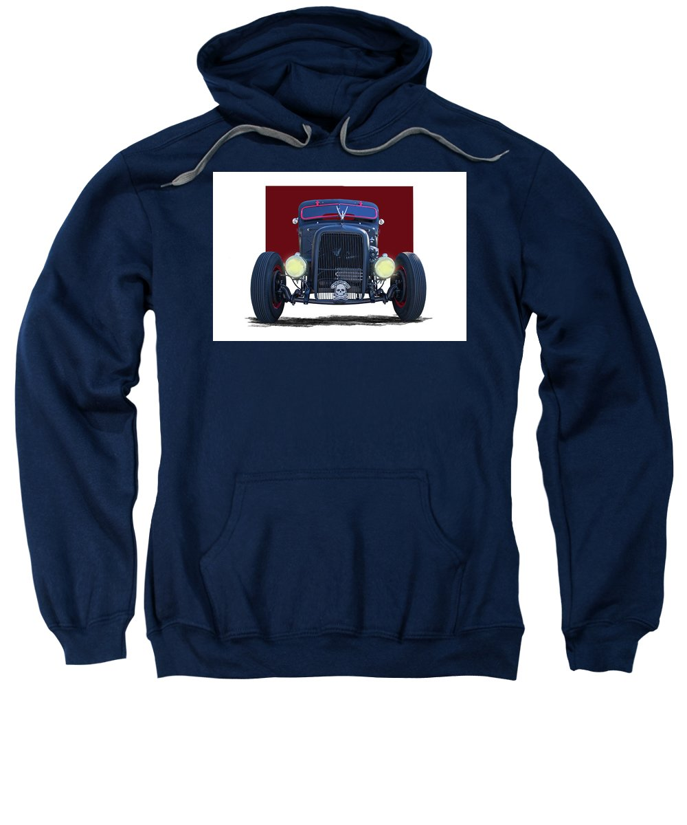 1939 Sweatshirt featuring the photograph 1939 Chevrolet Rat Rod by Nick Gray