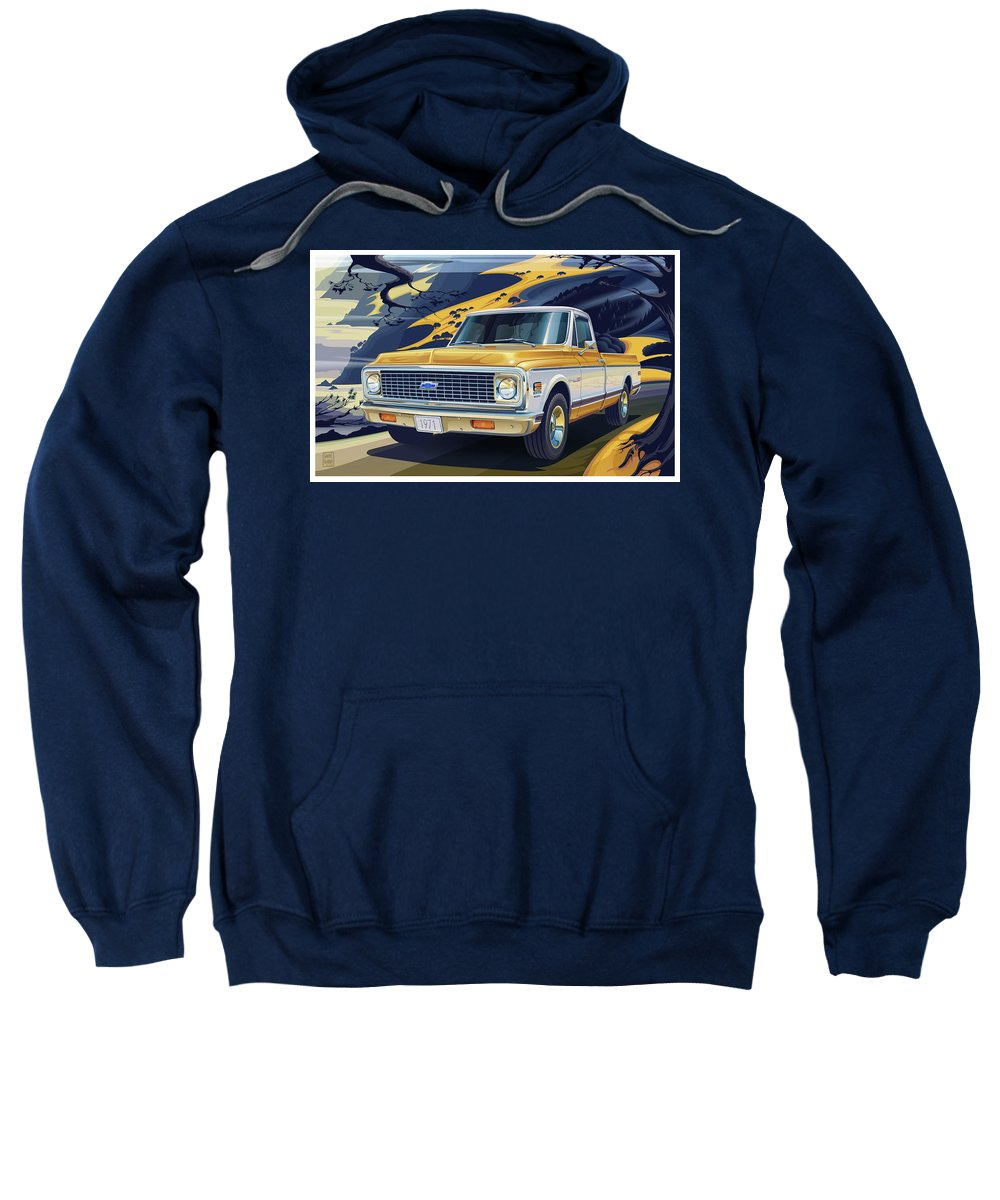 Rolling Hills Digital Art Hooded Sweatshirts T-Shirts